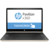 "HP Pavilion x360 14-ba002ne i3 4GB, 1TB 14"" Laptop, Gold"