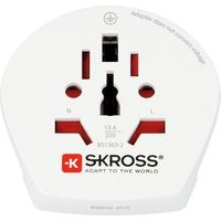 Skross Travel Adapter World to Europe, White