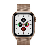 Apple Watch Series 5 40mm Gold Stainless Steel Case with Milanese Loop, GPS+ Cellular