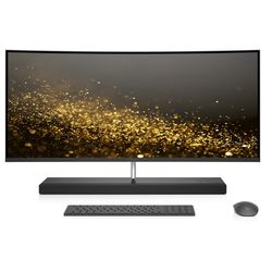 "HP ENVY Curved i7-8700, 16GB, 1TB+ 256GB 4GB Graphic, 34"" All-in-One Desktop, Black"