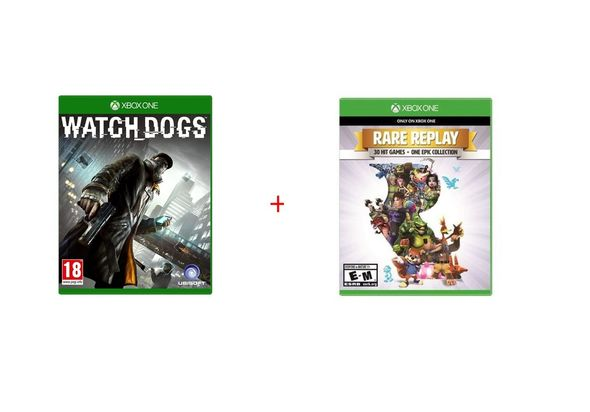 Watch Dogs Special Edition Game and Rare Replay for Xbox1