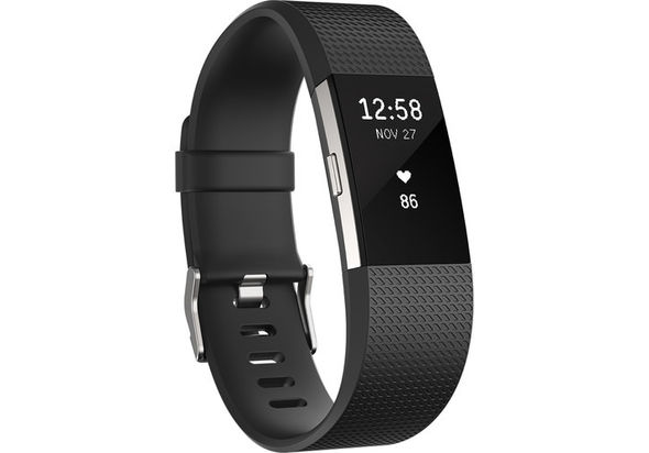 Fitbit Charge 2 Fitness Wristband Large, Black