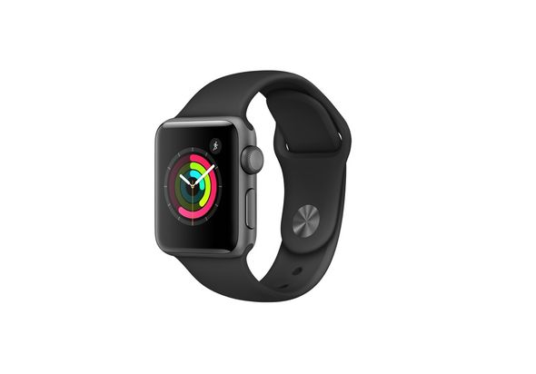 Apple Watch Series 2, 38mm Space Grey Aluminium Case with Black Sport Band