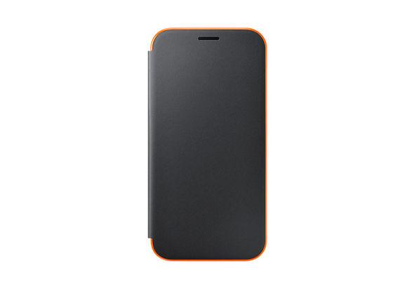 Samsung Galaxy A7 (2017) Neon Flip Wallet Cover, Black