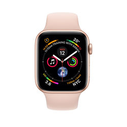 Apple Watch Series 4 40mm Gold Aluminum Case with Pink Sand Sport Band