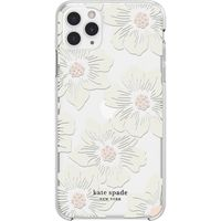 Kate Spade New York Protective Hard Shell Case for Apple iPhone 11 Pro Max, Cream With Stones/Hollyhock Floral Clear