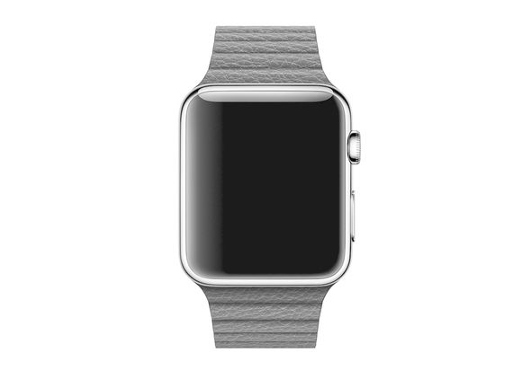 Apple 42mm Black Leather Loop, Large