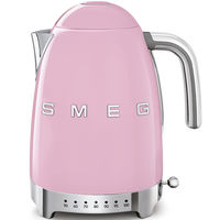 Smeg KLF04PKUK Variable Temperature Kettle 1.7 L, Pink