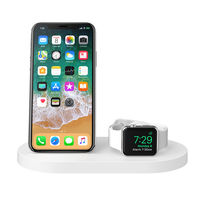 Belkin BOOST UP Wireless Charging Dock for iPhone+ Apple Watch+ USB-A port, White