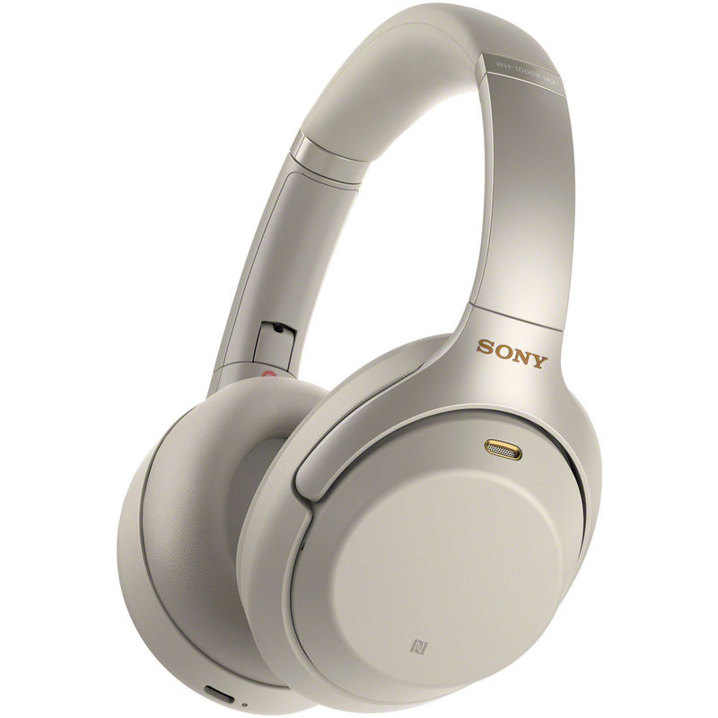 78655758769 Sony WH-1000XM3 Wireless Noise-Canceling Over-Ear Headphones, Silver