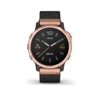 Garmin Fenix 6S Multisport GPS Watch, Rose Gold/Heathered Black