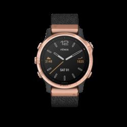 Garmin Fenix 6S Multisport GPS Watch, Rose Gold/Heathered Black
