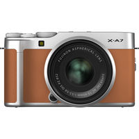 Fujifilm X-A7 Mirrorless Digital Camera with 15-45mm Lens,  Camel