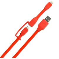 Tylt SYNCABLE-DUO charge and sync cable, Red