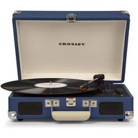 Crosley CR8005D-BL4 Cruiser Deluxe Turntable with Speaker, Blue - CH