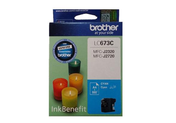 Brother LC673C Ink Cartridge, Cyan