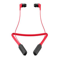 Skullcandy Ink'd Bluetooth Wireless Earbuds, Red/Black
