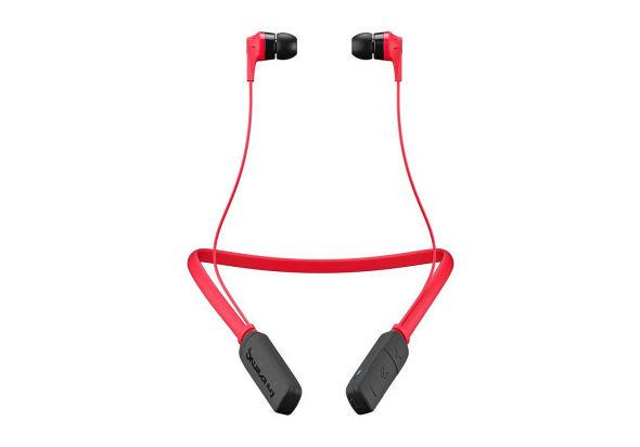 Skullcandy Ink d Bluetooth Wireless Earbuds, Red/Black