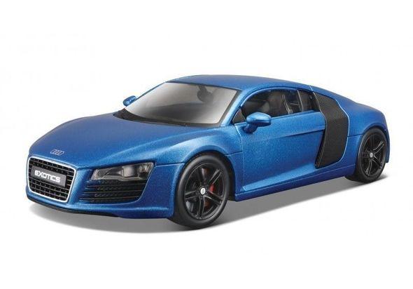 Maisto Audi R8 Satin Metallic Blue  Exotics  1/24