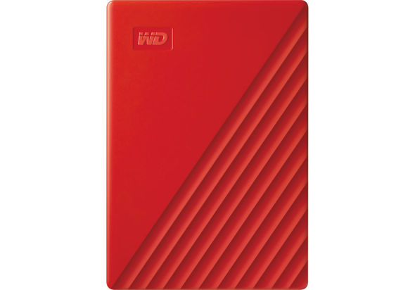 WD 2TB My Passport USB 3.2 Gen 1 External Hard Drive 2019, Red
