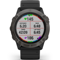 Garmin Fenix 6X Multisport GPS Watch, Grey/Black