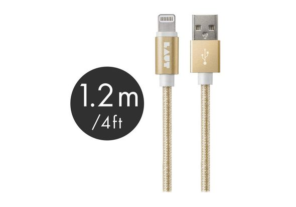 Laut 1.2M Lightning Cable Metallic, Gold