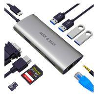 Max & Max 11 in 1 USB-C Hub Grey MXMC105