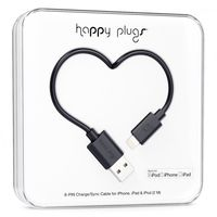 Happy Plugs lightning charge/sync cable, Black