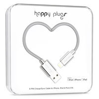 Happy Plugs lightning charge/sync cable, Silver