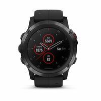 Garmin fenix 5X Plus, Sapphire, Black with Black Band