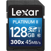 Lexar 128GB Premium II 300x SDXC UHS-I Memory Card