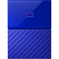 WD 1TB My Passport USB 3.0 Secure Portable Hard Drive, Blue