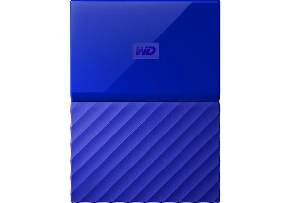 WD 1TB My Passport USB 3.0 Secure Portable Hard Drive, Blue