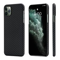 Pitaka MagEZ Case for iPhone 11 Pro Max, Black/Grey (Twill)