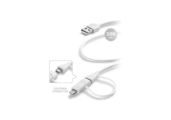 Cellularline CEL-USBDATACMFIIPH5DUA USB Data cable dual