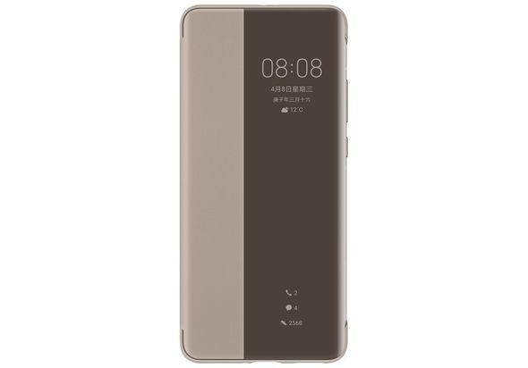 Huawei HUA-P40PRO-SVC-KHA Smart Clear View Mirror PU Leather Shockproof Slim Case, Khaki