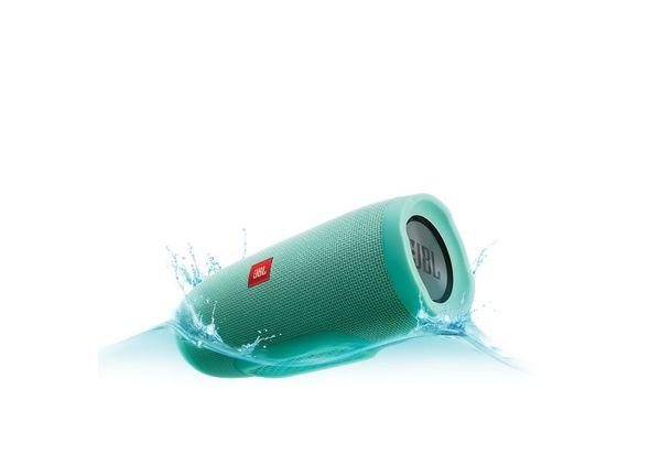 JBL Charge 3 Waterproof Bluetooth Speaker, Turquoise