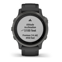 Garmin Fenix 6S Multisport GPS Watch, Grey/Black