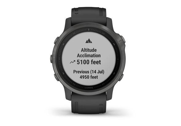 Garmin Fenix 6S Multisport GPS Watch, Grey/Black