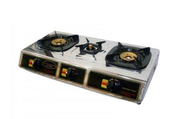Hitachi Stainless Steel 3 Burner Gas Table Mph310ri