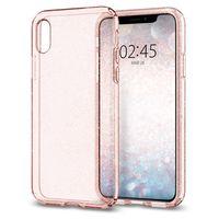 Spigen Liquid Crystal Glitter Case for iPhone XS, Rose Quartz