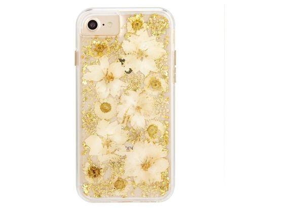 Case Mate Karat Petals Case for iPhone SE, Antique White