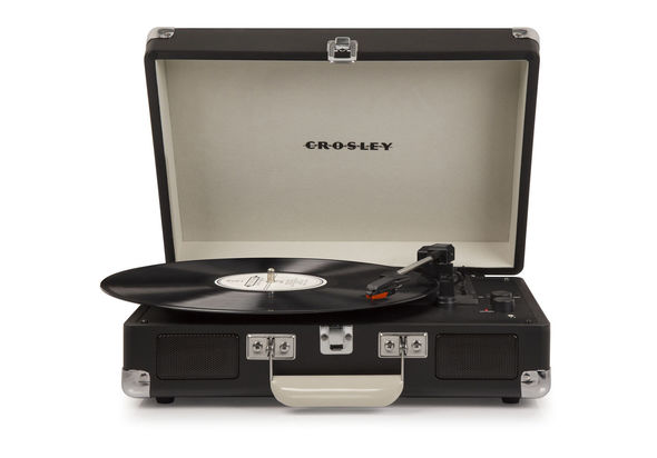 Crosley CR8005D-TN4 Cruiser Deluxe Turntable with Speaker, Chalkboard
