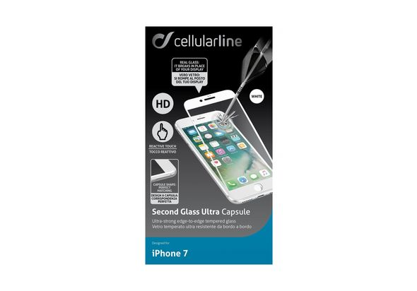 Cellularline Second Glass Ultra Capsule iPhone 7, White