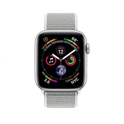Apple Watch Series 4 GPS+ Cellular 44mm Silver Aluminum Case With Seashell Sport Loop