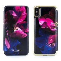 Proporta Ted Baker Sheleen Mirror Folio Case for iPhone X, Impressionist Bloom