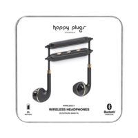 Happy Plugs Wireless II Wireless Headphones, Black Gold
