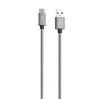 PNY USB-A to USB-C 2.0 Cable 10FT / 3m, Metal Charcoal