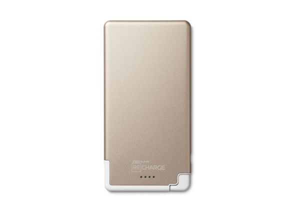 Recharge 5000 PB Ultra Thin Lightning, Champagne / White