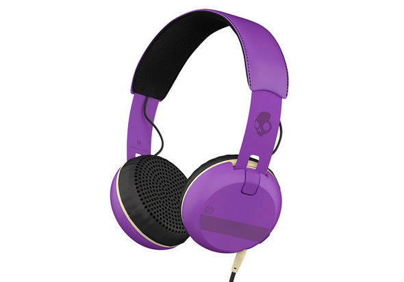 Skullcandy Grind Headphones with Single-Button TapTech and Mic, Purple
